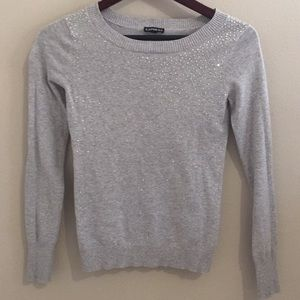 Express jeweled grey sweater