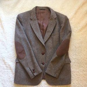 Vintage Elbow patch wool tweed blazer