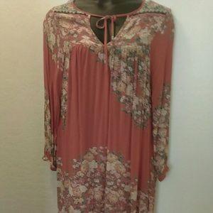 2pc Org/Print dress
