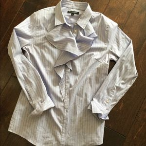 Banana Republic Ruffle Button Down