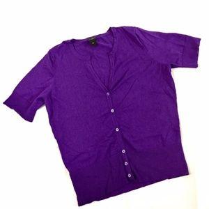 Ann Taylor Size XL Plum Purple Knit Sweater
