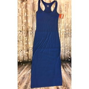 NWT Mossimo blue maxi dress with slit