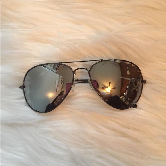 5c672551ccae H&M Accessories | Hm Aviator Sunglasses In Silver Mirror | Poshmark