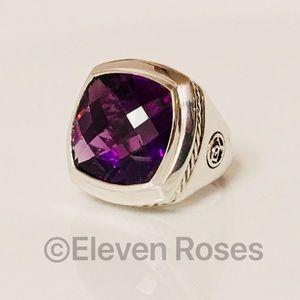 David Yurman Large Amethyst Albion Ring