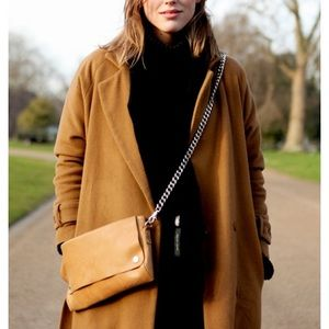LOFT Dark Brown Turtleneck Sweaterdress