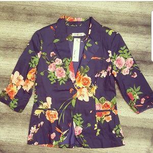 Modcloth Floral Blazer