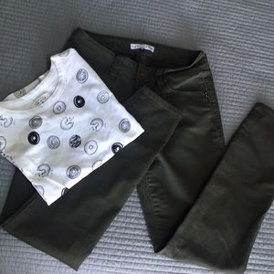 YMI olive jeggings