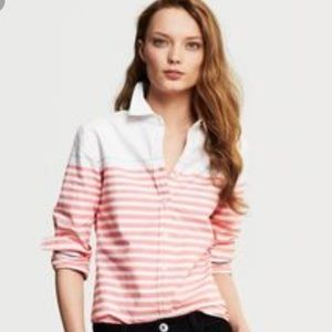 Banana Republic Oxford Horizontal Striped Shirt SM