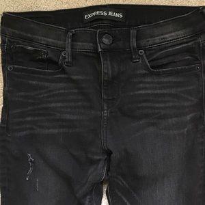 Express supersoft black jean legging size 2R