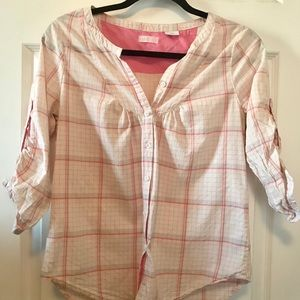 Gap pink shirt 3/4 sleeves size S