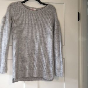 Comfy, fuzzy gray sweater