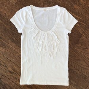 J.Crew Women's Top Shirt Blouse white