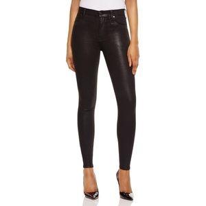 Hudson Barbara high waist coated skinny jeans