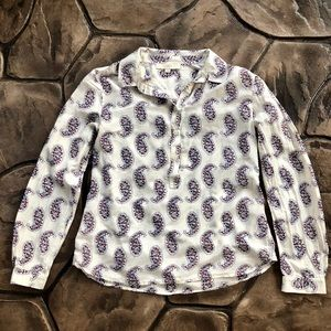 LOFT Button Up Blouse