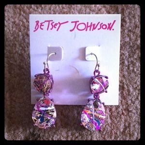 NWT BETSEY JOHNSON HANGING EARRINGS ONE OF A KIND!
