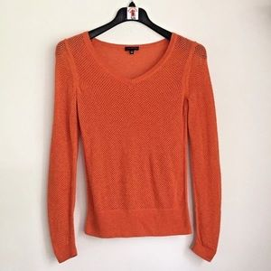 The Limited Orange Stretch Knit Sweater