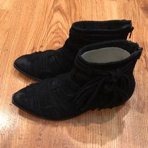 NWOT Free People Decades Suede Ankle Boots Booties