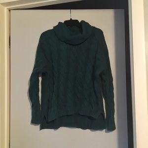 Dark Green Banana Republic Cowl-Neck Sweater