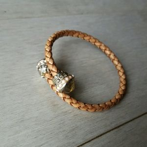 J. Crew Woven Leather Bracelet