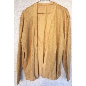 Gold Sparkly New Year's Party Cardigan