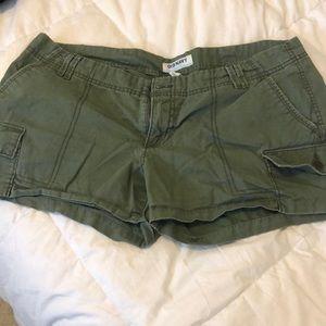 Olive Old Navy Cargo Shorts