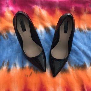 Jet Black High Heels