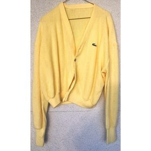 Yellow Lacoste Cardigan - Easter