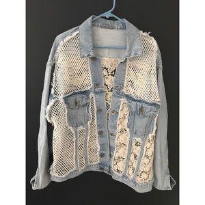 LF Carmar Denim Jacket w/Crochet Detail