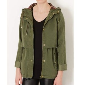 TopShop Light weight Green parka size 6