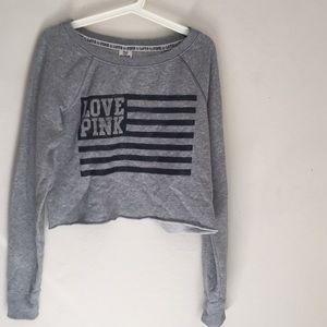 victoria's secret • crop crew neck sweater