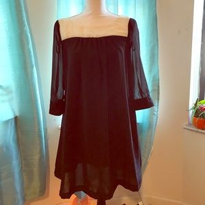 H&M black and white dress - size 6