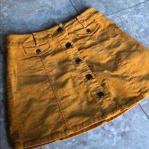 Forever 21 Corduroy Mini Skirt- Small