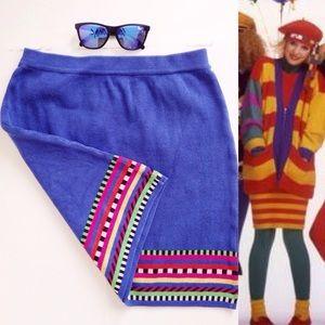 VTG💜90s Ann Taylor Day Glow Neon Art Deco Skirt!