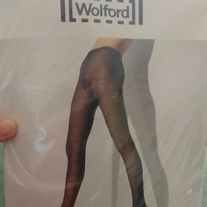 NWT WOLFORD BLACK CACHET TIGHTS