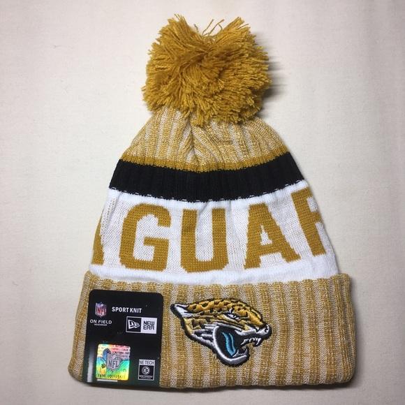 Jacksonville Jaguars gold beanie hat 882badba842