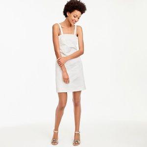 J. Crew white embossed convertible dress. NEW!