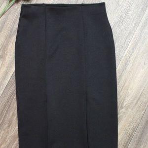 Black Stretchy Pencil Bodycon Skirt