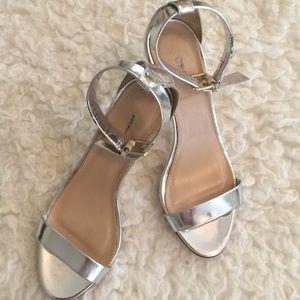 J.Crew Silver Heels
