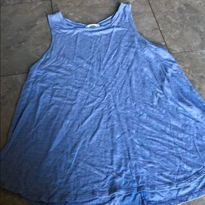 Old Navy Blue Flowy Tank Top- SMALL