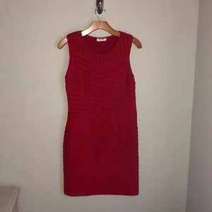 Calvin Klein Red mid length dress