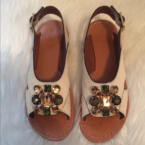 Marni jeweled sandals, size 38.5 (8 1/2)