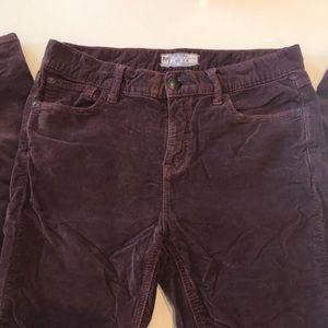 Free people Corduroy jeans rust / brown color