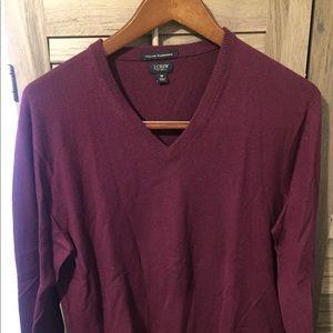 Plum J.Crew Cashmere Sweater