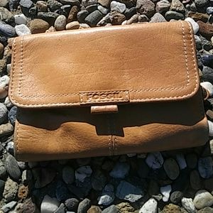 Vintage Fossil Leather tan Wallet