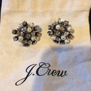 J. Crew Crystal Starburst Earrings
