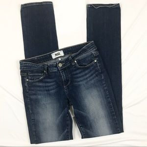 Paige Peg Skinny Jeans Eliza Medium Dark Wash