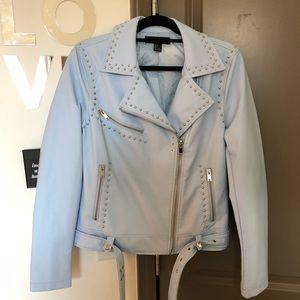 Light Blue Moto Jacket - Size L