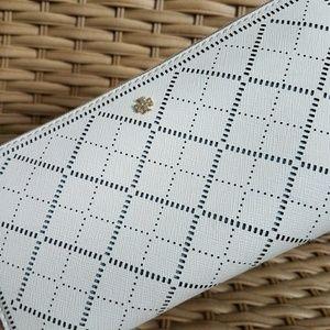 Tory Burch accordion zip wallet