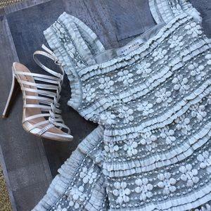 Max Studio grey lace dress.