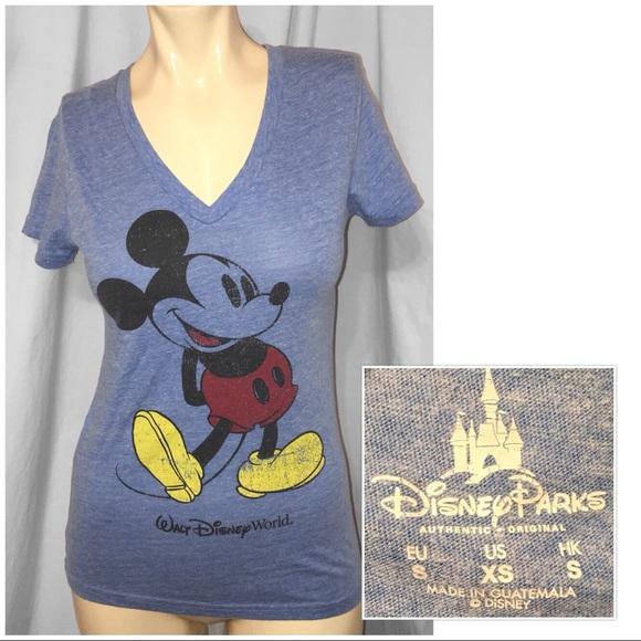 548f6c7aed49e7 Disney Tops - Mickey Mouse Women s Disney Classic V-Neck T-Shirt